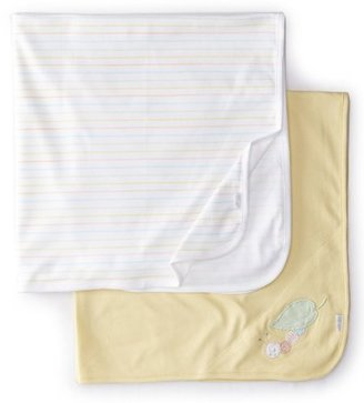 Little Me Unisex-Baby Newborn Worm 2 Pack Receiving Blanket
