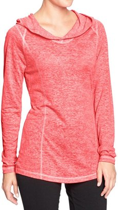 Old Navy Women's Active Hooded Burnout Tunics