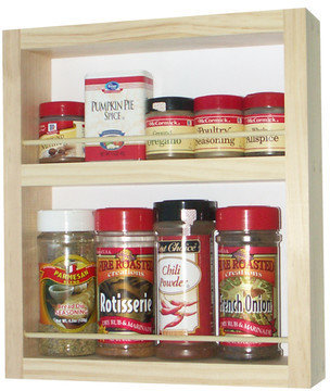"""WG Wood Products On the Wall Spice Rack 3.5"""" Deep"""