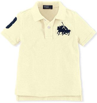 Ralph Lauren Shirt, Little Boys Short-Sleeve Match Mesh Knit Top