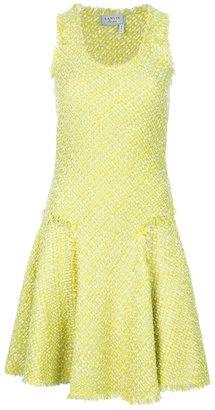 Lanvin contrast knit dress