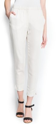 MANGO Tapered suit trousers