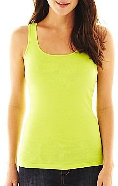 JCPenney jcpTM Ribbed Tank Top