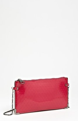 POVERTY FLATS by rian Faux Leather Crossbody Clutch