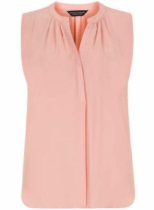 Dorothy Perkins Coral Drape Sleeveless Shirt