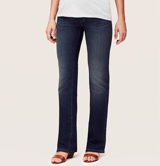 LOFT Petite Maternity Sexy Boot Cut Jeans in Mid Blue Wash