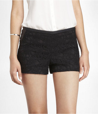 Express 2 1/2 Inch Lace Overlay Shorts