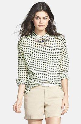 Halogen Cotton & Silk Shirt (Regular & Petite)