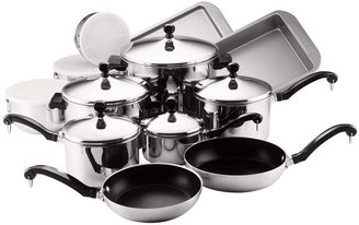 Farberware Classic Stainless Steel Cookware Set 17pc-Metallic