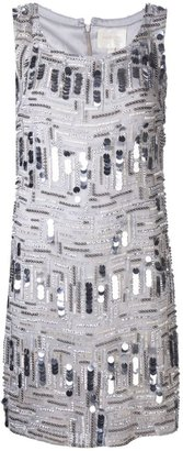 Marchesa beaded shift dress