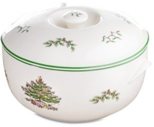 Spode Christmas Tree Round Covered Casserole Dish