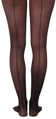 Wolford Individual 10 Back Seam Tights (Black) Hose