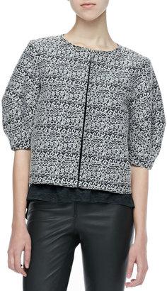 Alice + Olivia Dunn Printed Boxy Jacket