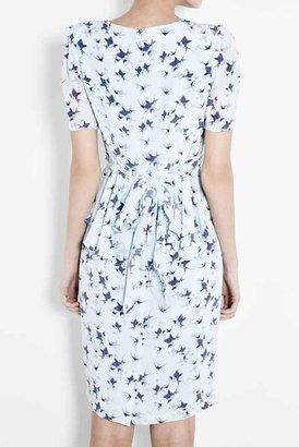 Project D Phoebe Peplum Dress in Bluebird
