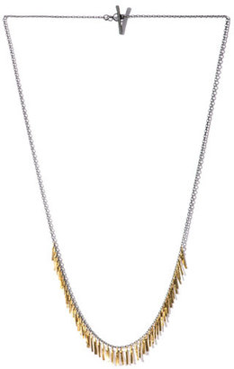 SIA Taylor Silver and gold Fringe necklace