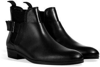 Sandro Leather Ankle Boots in Black
