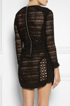 IRO Castley borderie anglaise cotton mini dress