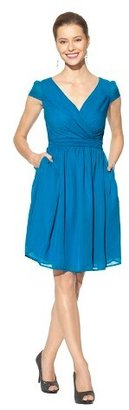 Women's Chiffon Cap Sleeve V-Neck Bridesmaid Bridesmaid Dress Limited Availability Colors - TEVOLIO