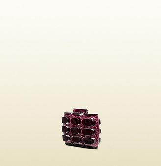 Gucci Aristographic Glittered Plexiglass Evening Clutch