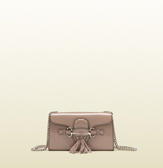Gucci Emily Light Pink Patent Leather Chain Shoulder Bag