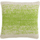"""CB2 Ombre Green Knit 20"""" Pillow With Down-Alternative Insert."""