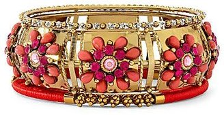 JCPenney 3-pc. Pink Floral Bangle Set