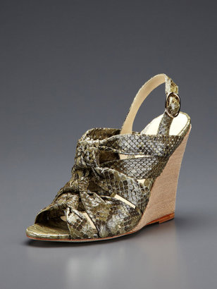 Alexandre Birman 3 Knot Wedge Sandal