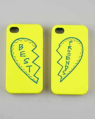 Rebecca Minkoff Best Friends iPhone 4 Case Set, Yellow/Teal