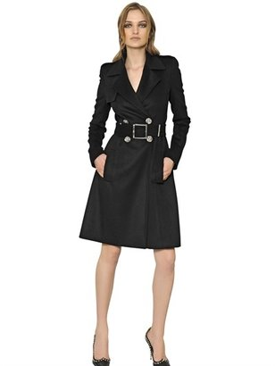 Versace Wool Blend Trench Coat