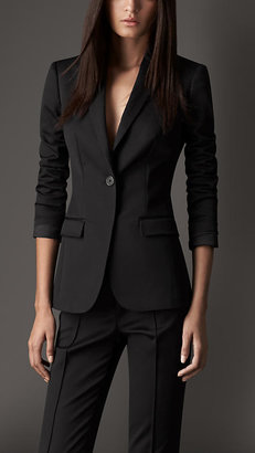 Burberry Tailored Cotton Faille Jacket