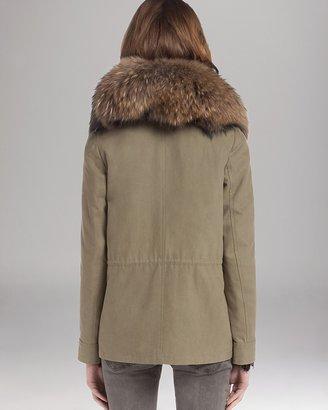 Maje Parka - Military Fur Collar