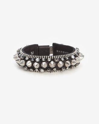 Barbara Bui Spike Leather Bracelet