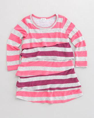 Splendid Littles Rugby Stripe Tiered Dress, Sizes 2T-4T