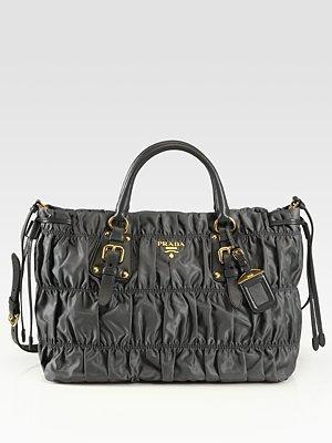Prada Tessuto Gaufre Nylon Tote Bag