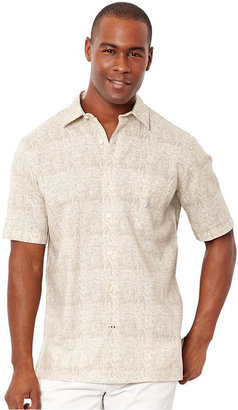 Nautica Shirt, Short Sleeve Tile Print Shirt