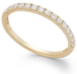 Arabella Swarovski Zirconia Wedding Band Ring (1 ct. t.w.) in 14k White or Yellow Gold