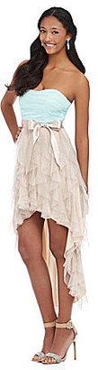 Teeze Me Glitter Mesh Corkscrew Dress