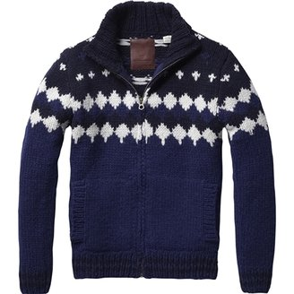Scotch & Soda Men's Mountain Zip-through Vest - Hand Knitted