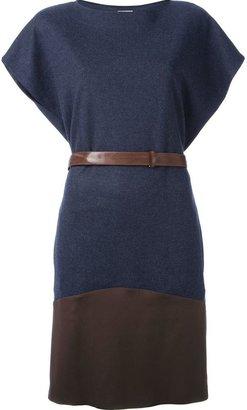 Brunello Cucinelli colour-blocked sweater dress