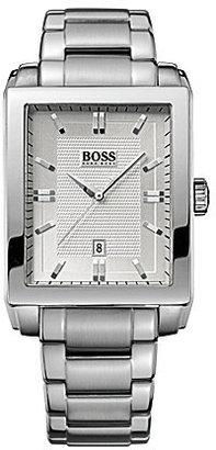 HUGO BOSS Rectangular Stainless Steel Watch