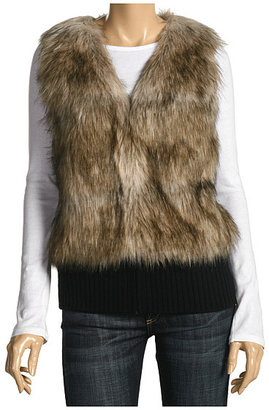 Juicy Couture Fur Vest W/ Rib Trim