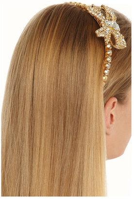 Miu Miu Crystal and faux pearl headband