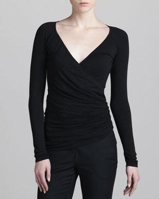 Donna Karan Ballet Jersey Wrap Cardigan