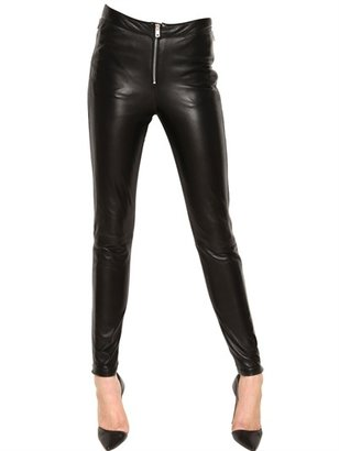McQ by Alexander McQueen Nappa Leather Zipped Trousers