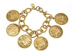 Yochi Design Yochi Alexander The Great Coin Bracelet