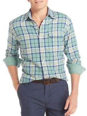 Izod Classic-Fit Plaid Button-Down Shirt