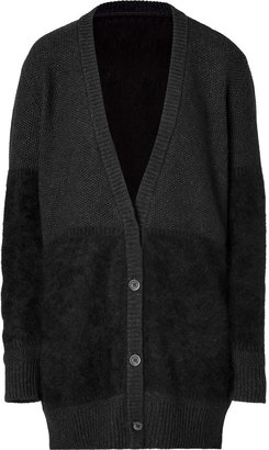 Closed Angora Cardigan in Black