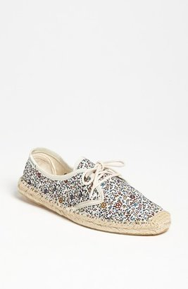 Soludos Floral Print Lace-Up Espadrille (Women)