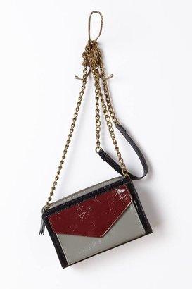 Anthropologie Glossed Letterbox Crossbody Bag