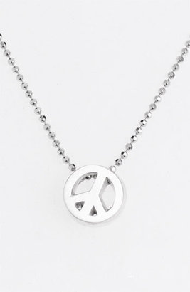 Alex Woo 'Little Activist' Peace Sign Pendant Necklace